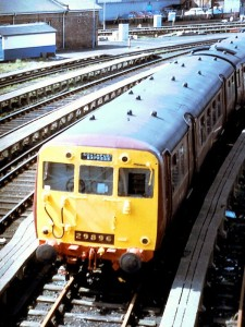 Class 502 in Southport Sidings, 1989