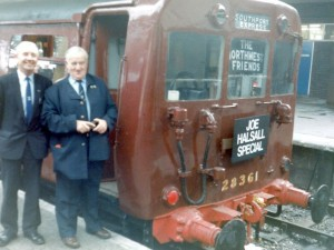 Photo of Joe Halsall with the Class 502