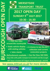 MTT Open Day 2017 - Sunday 9th July, 10.30-16.30