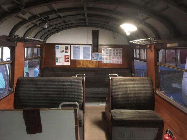 Interior of class 502 coach at the MTT open day