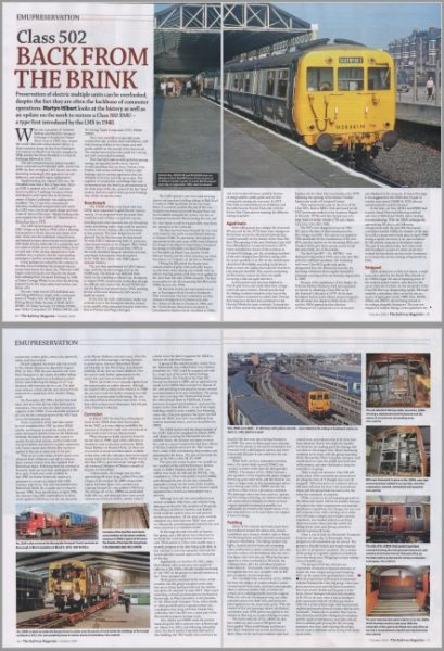 "Low-res picture of the Railway Magazine article headlined ""Back from the Brink"""