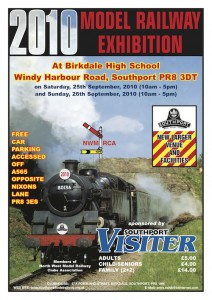 Southport Model Railway Show 2010 poster