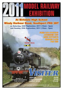 Southport Model Railway Show 2011 poster
